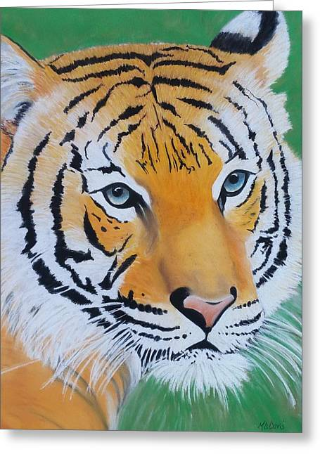 Recently Sold -  - Lioness Greeting Cards - Tigress Greeting Card by Maria Davis