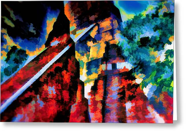 Pyramids Greeting Cards - Tikal Temples Colliding - Guatemala Greeting Card by The  Candy Trail