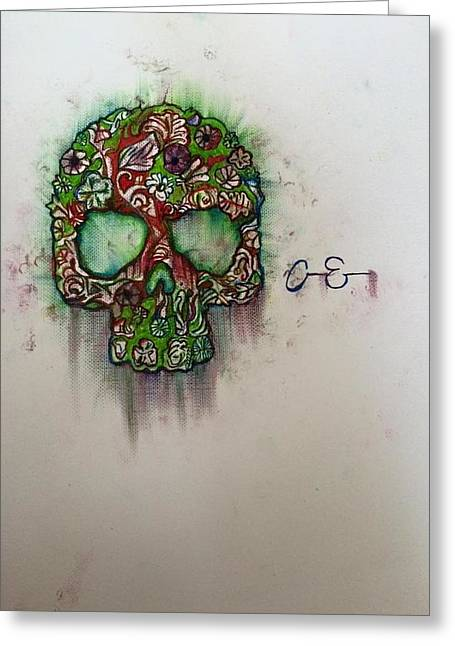Drip Drawings Greeting Cards - Til Death Greeting Card by Allen Easley