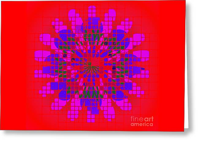 Geometric Image Greeting Cards - Tile and Shape Motif Greeting Card by Richard Farrington