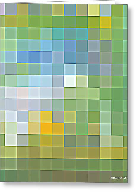 Textured Ceramics Greeting Cards - Tile composition of abstract texture Greeting Card by Antonio  Cristo