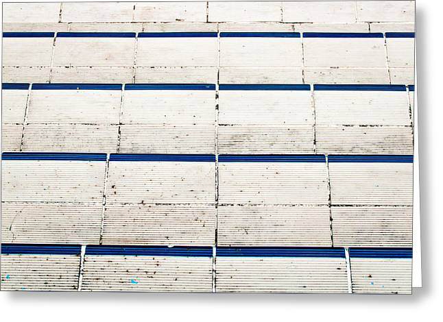Tiled Steps Greeting Card by Tom Gowanlock