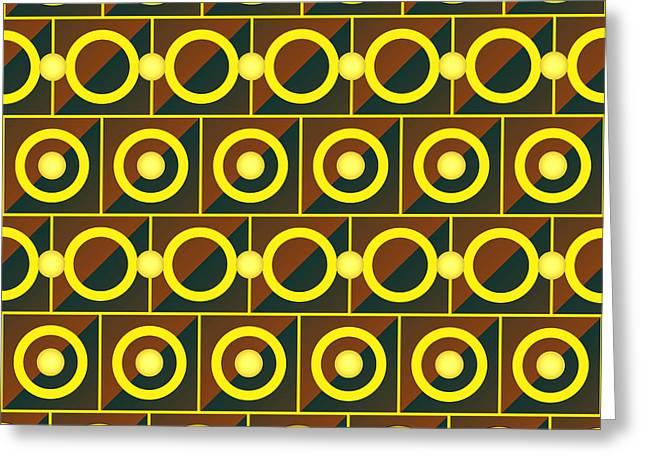 Algorithmic Greeting Cards - Tiled yellow circles Greeting Card by Gaspar Avila