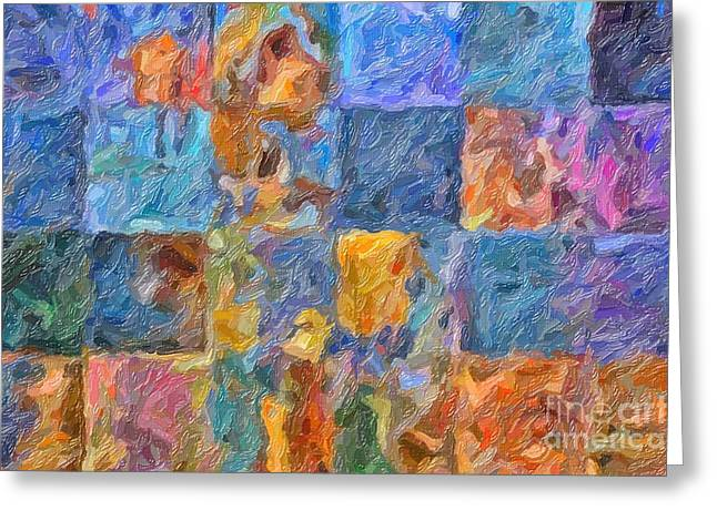 Cellphone Greeting Cards - Tiles Greeting Card by Ed Churchill
