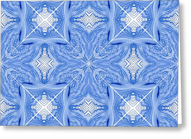 Geometric Design Greeting Cards - Tiles X and Squares Greeting Card by Lori Kingston