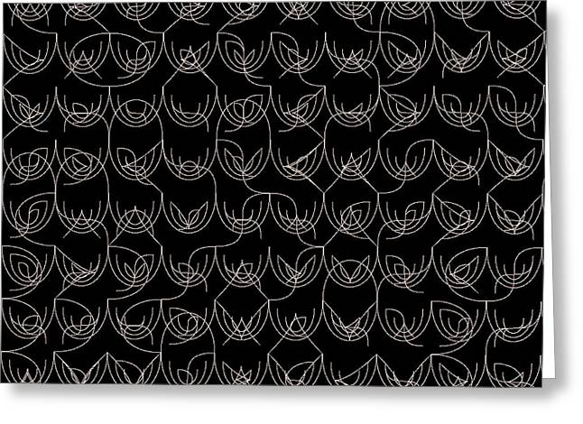 Background Greeting Cards - Tiles.2.132 Greeting Card by Gareth Lewis