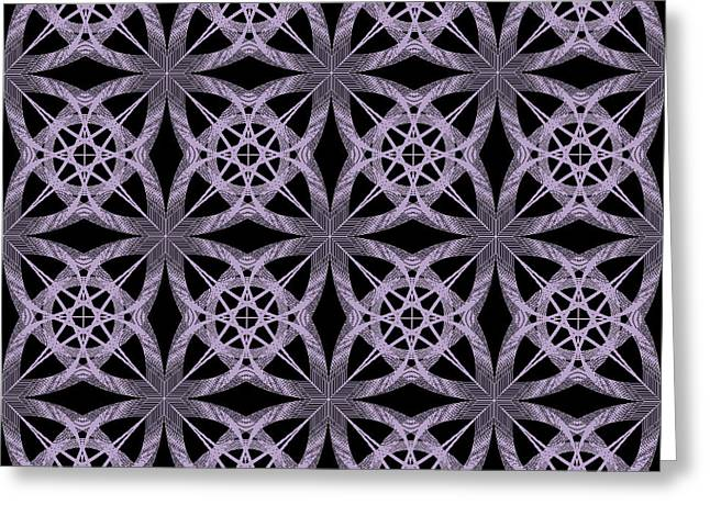 Abstract Greeting Cards - Tiles.2.224 Greeting Card by Gareth Lewis