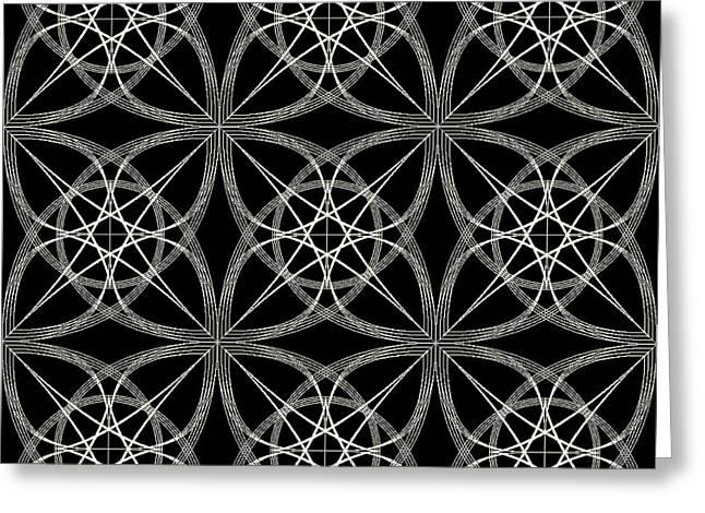 Geometric Artwork Greeting Cards - Tiles.2.352 Greeting Card by Gareth Lewis