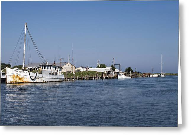 Eastern Shore Greeting Cards - Tilghman Island Water Way Eastern Shore of Maryland Greeting Card by Brendan Reals