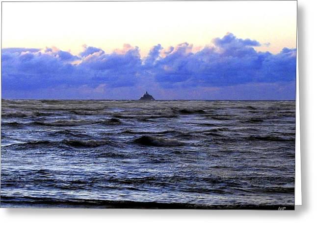Tillamook Rock Lighthouse Greeting Card by Will Borden