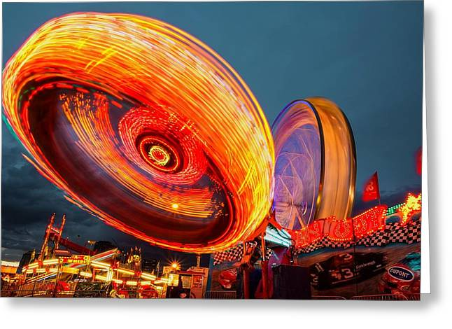 Tilt A Whirl Greeting Card by Mountain Dreams