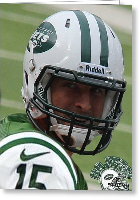 Jet Star Greeting Cards - Tim Tebow - New York Jets Florida Gators - Timothy Richard Tebow Greeting Card by Lee Dos Santos