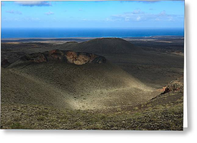 Timanfaya Crater View Greeting Card by Johan Elzenga