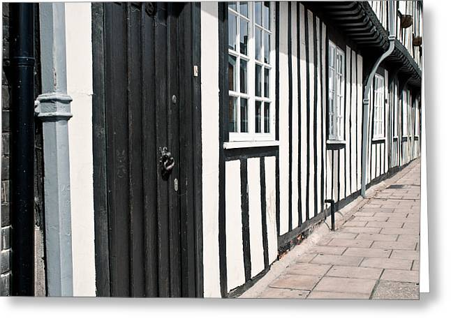 Timber Posts Greeting Cards - Timber house Greeting Card by Tom Gowanlock