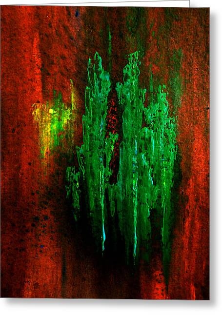 Timberland-abstract Painting By V.kelly Greeting Card by Valerie Anne Kelly