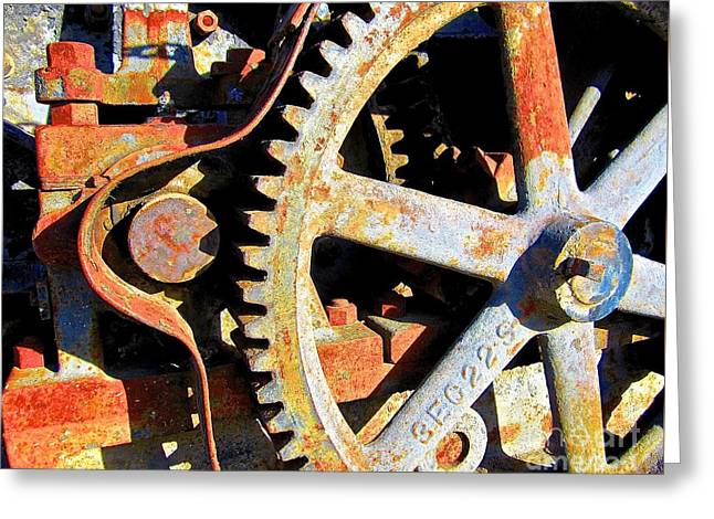 Component Digital Greeting Cards - Time Compressor Greeting Card by Mut Magic Collaborative