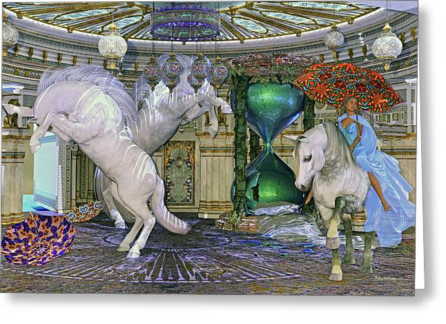 Time Escapes Me Greeting Card by Betsy Knapp