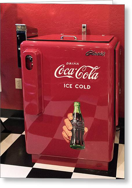 Coca Cola.coke-a-cola Greeting Cards - Time For A Break - Coke Greeting Card by Jon Berghoff