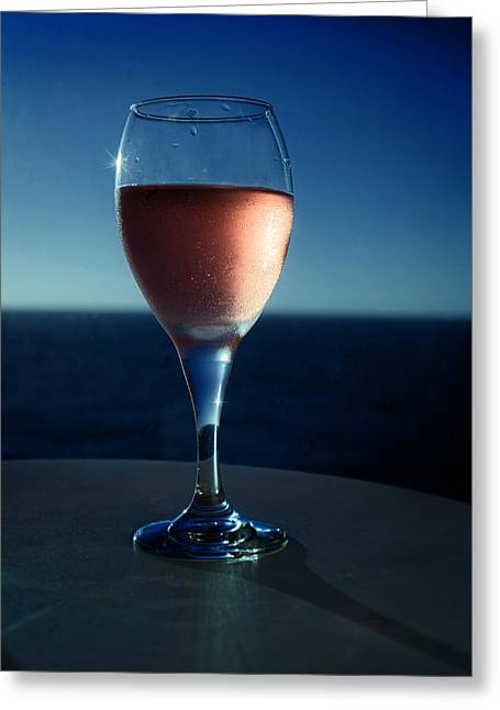 Table Wine Greeting Cards - Time For The Memories Greeting Card by Lucinda Walter