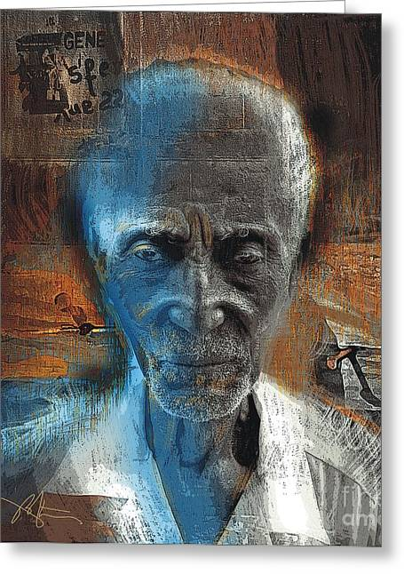 Haitian Mixed Media Greeting Cards - Time Goes By Greeting Card by Bob Salo
