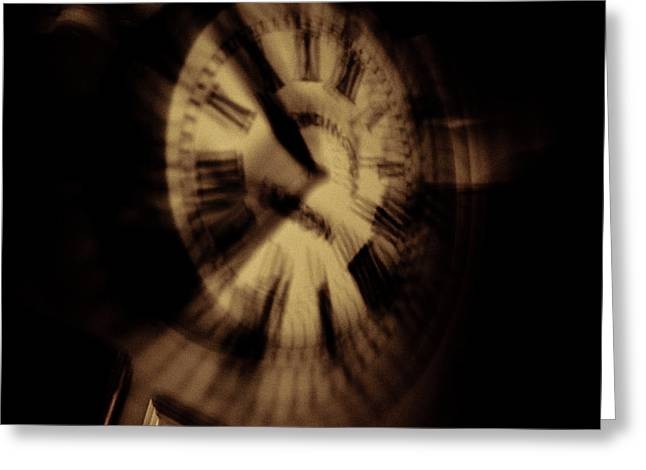 Distortion Greeting Cards - Time II Greeting Card by Grebo Gray