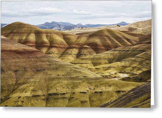 Time In Layers Greeting Card by Belinda Greb