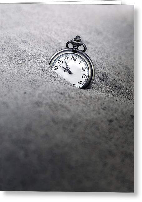 Pocket Watch Greeting Cards - Time Is Running Greeting Card by Joana Kruse