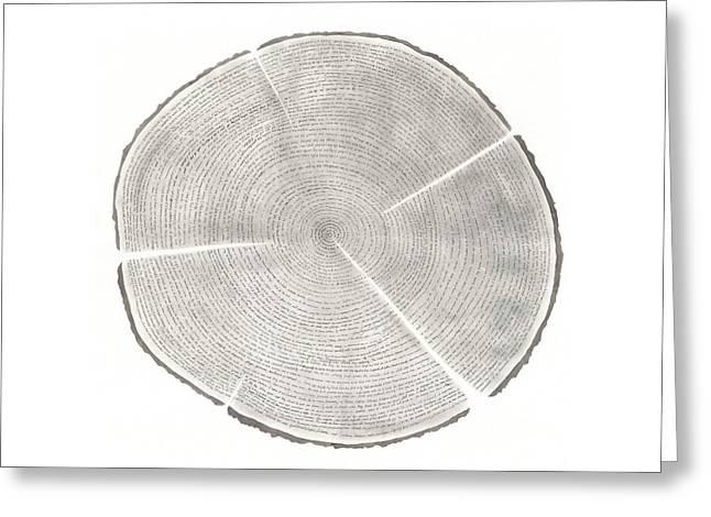 Time Lines-collective Art Work Greeting Card by Sandrine Pelissier