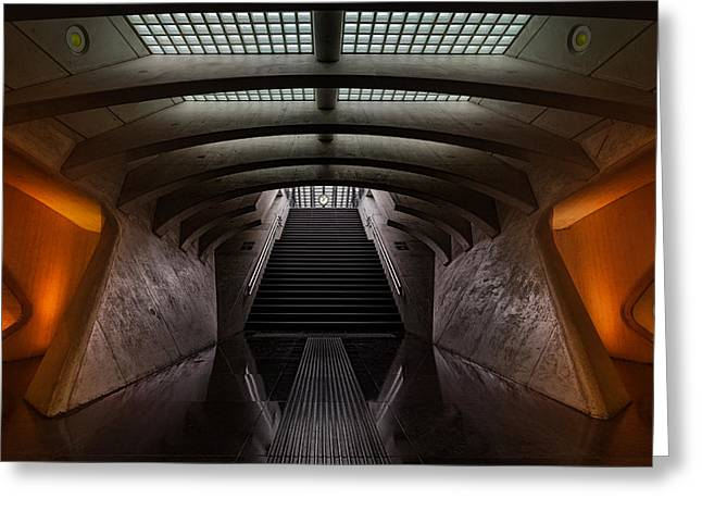 Tunnel Greeting Cards - Time Machine Greeting Card by Michiel Hageman