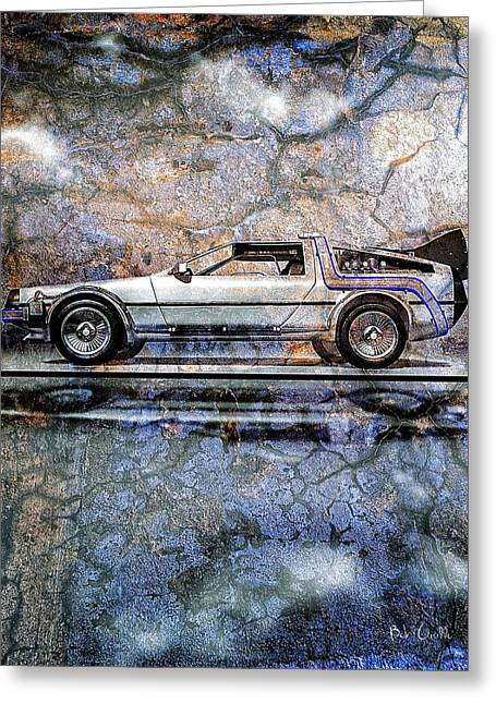 Dmc Greeting Cards - Time Machine or The retrofitted DeLorean DMC-12 Greeting Card by Bob Orsillo