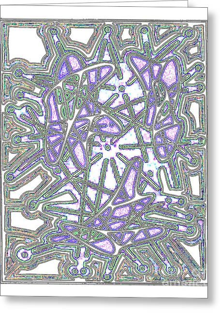 Layer Greeting Cards - Time Map Greeting Card by Peter Paul Lividini