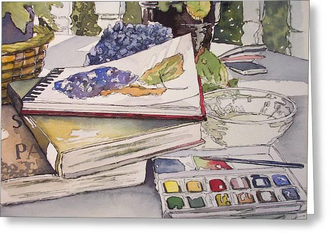 Best Sellers -  - Sketchbook Greeting Cards - Time On My Own Greeting Card by Victoria Heryet