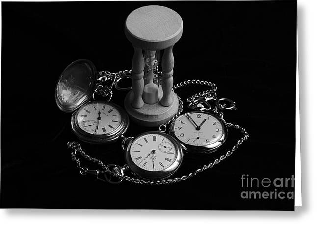 Mechanism Greeting Cards - Time on Velvet 2 Greeting Card by Angelo DeVal