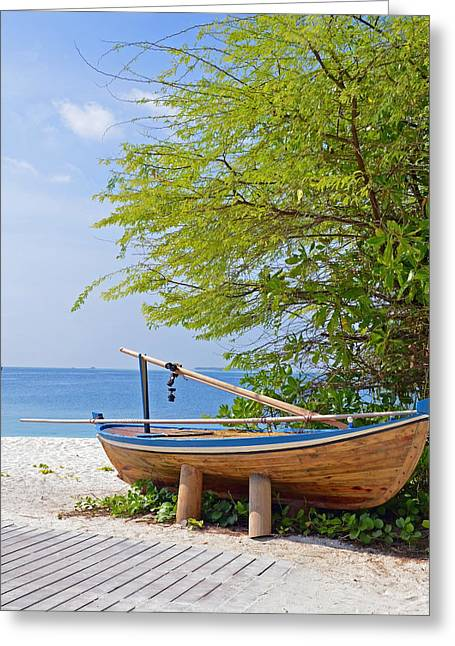 Docked Boats Greeting Cards - Time out Greeting Card by Corinne Rhode