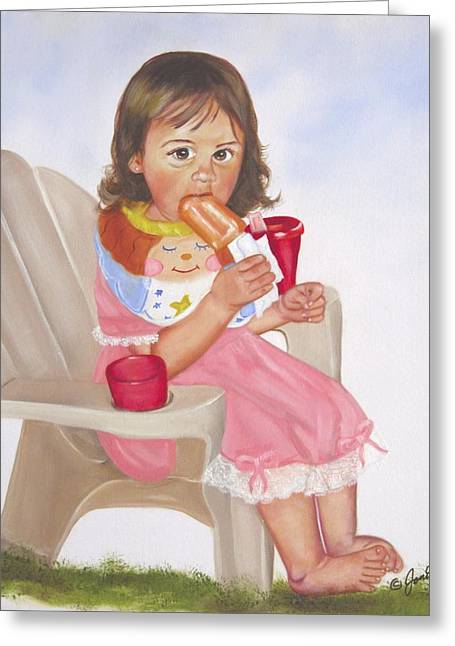 Time Out For Ice Cream Greeting Card by Joni McPherson