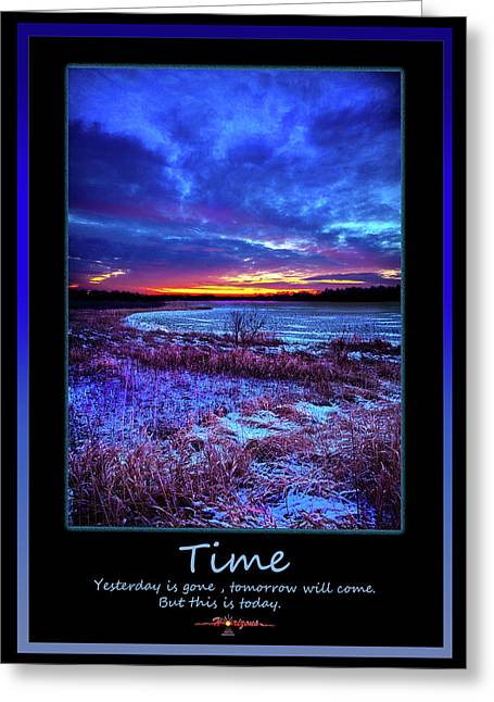 Sunset Posters Greeting Cards - Time Greeting Card by Phil Koch