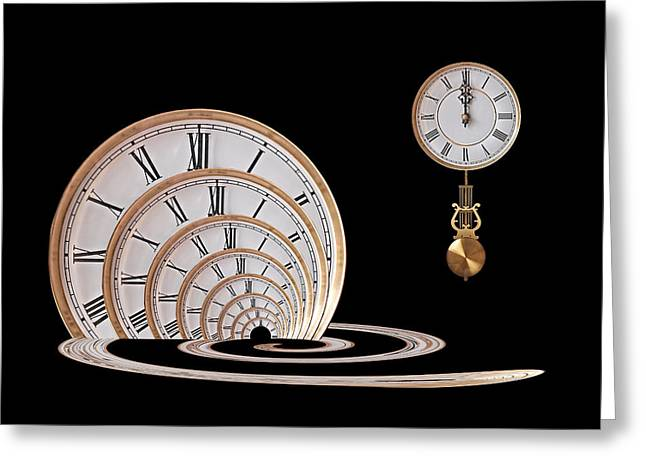 Portal Greeting Cards - Time Portal Greeting Card by Gill Billington