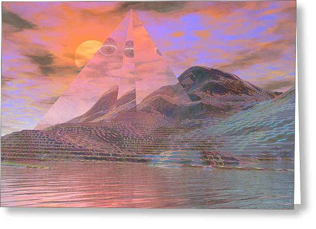 Visionary Artist Greeting Cards - Time Resumes on Kepler-186f Greeting Card by Bob  Eige