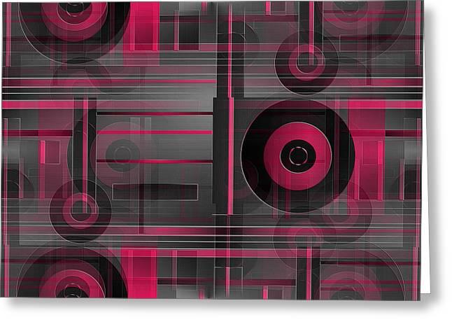 Geometrical Art Greeting Cards - Time Speeding Greeting Card by Raul Ugarte