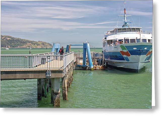 Time To Catch A Ferry To San Francisco. Greeting Card by Gino Rigucci