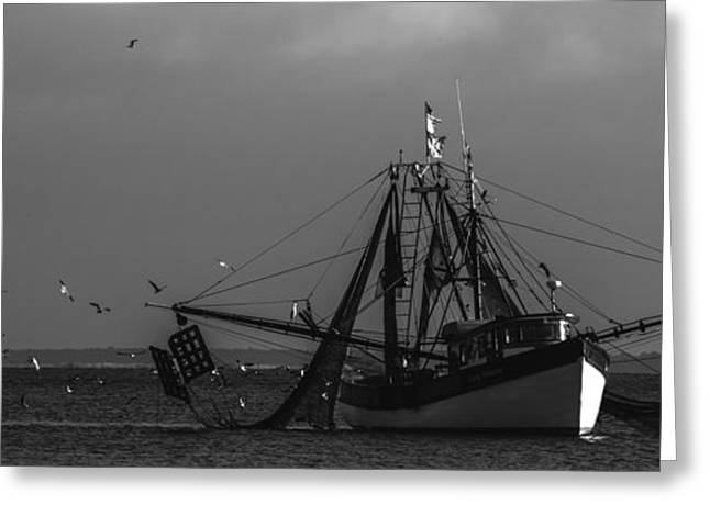 Fishing Boats Greeting Cards - Time to Fish Greeting Card by Amanda Sinco