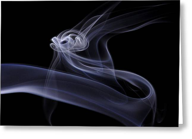 Smoke Art Greeting Cards - Time to Fly Greeting Card by Bryan Steffy