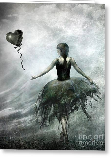 Dark Greeting Cards - Time to let Go Greeting Card by Photodream Art
