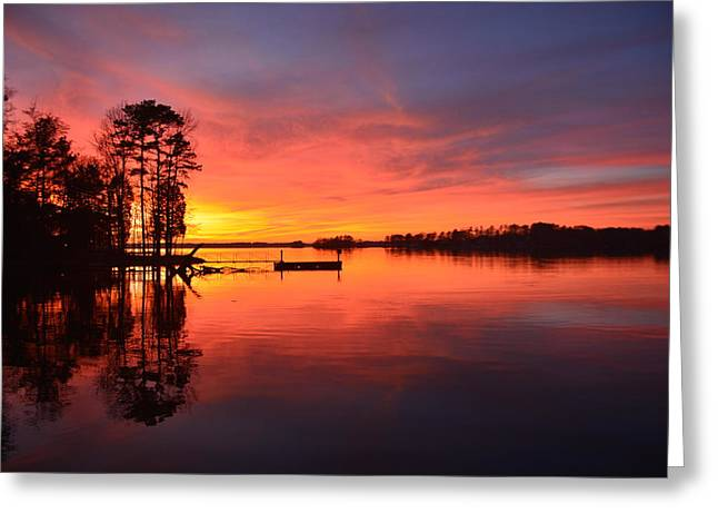 Lake Greeting Cards - Time To Reflect Greeting Card by Lisa Wooten