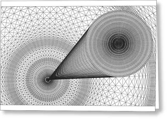 Optical Art Drawings Greeting Cards - Time Travel Greeting Card by Roger Hampel