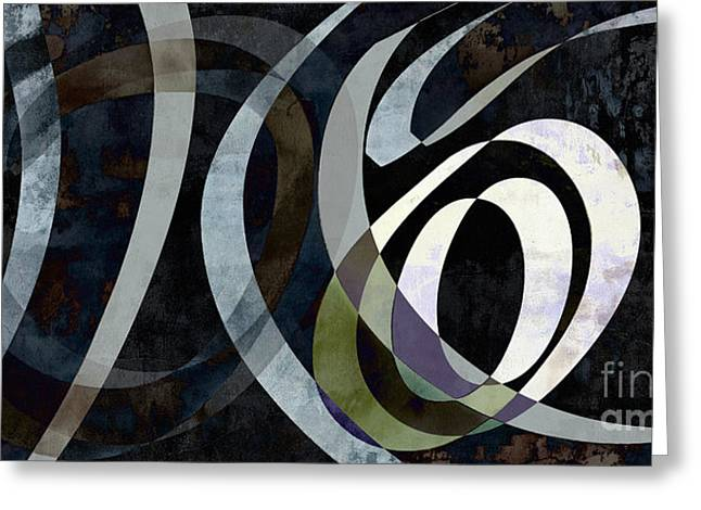 Spiral Digital Art Greeting Cards - Time Traveler Abstract Greeting Card by Edward Fielding