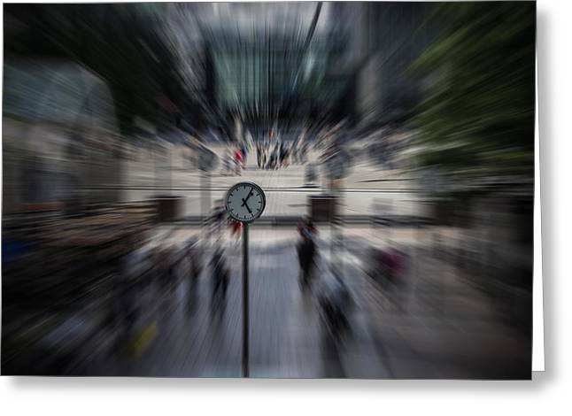 Time Works Greeting Cards - Time Traveller Greeting Card by Martin Newman