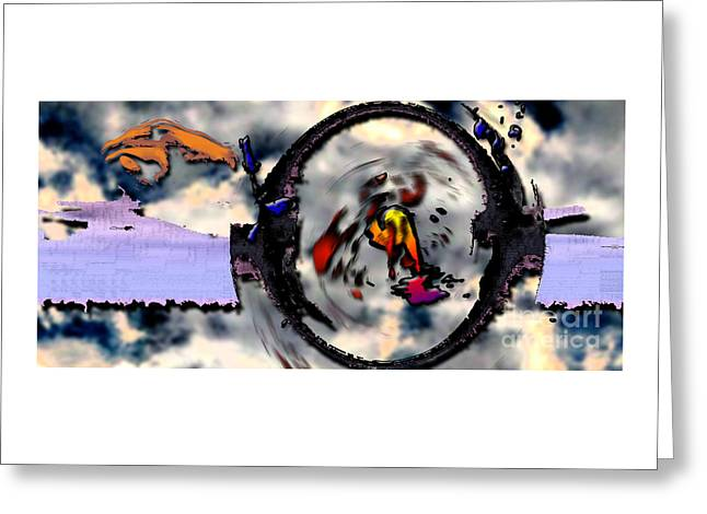 Cellphone Greeting Cards - Time Vortex Greeting Card by Alan M Thwaites