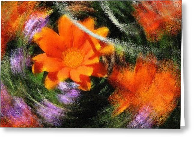 Abstract Digital Digital Greeting Cards - Time Warp Greeting Card by Lisa S Baker