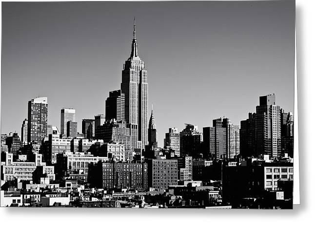 Timeless - The Empire State Building And The New York City Skyline Greeting Card by Vivienne Gucwa